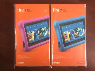 "Brand New AMAZON Fire 7 Kids Edition Tablet 7"" Display, 16 GB Kid-Proof"
