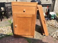 Wooden cupboard with baby changing tray