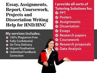 HND/HNC EXPERT HELP FOR COURSEWORK / ESSAY / ASSIGNMENT / PROPOSAL / TUITION / REPORT / DISSERTATION