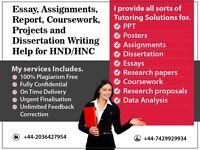URGENT (8 Hour) EXPERT HELP FOR HND/HNC COURSEWORK / ESSAY / ASSIGNMENT / PROPOSAL / DISSERTATION