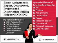 URGENT (8 Hour) EXPERT HELP FOR HND/HNC COURSEWORK / ESSAY / ASSIGNMENT / PROPOSAL / DISSERTATION
