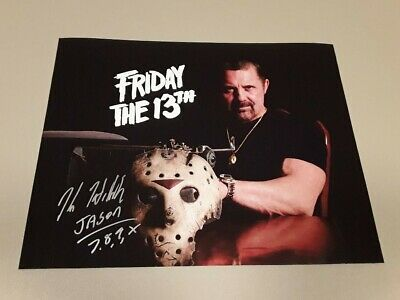 Kane Hodder (Jason Voorhees) Signed  11 x 14  Friday the