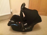 Maxi-Cosi Cabriofix Baby Car Seat - Black (with original rain cover)