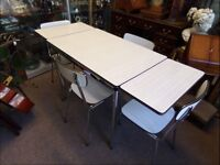 1950s Vintage Dining Table and Chairs