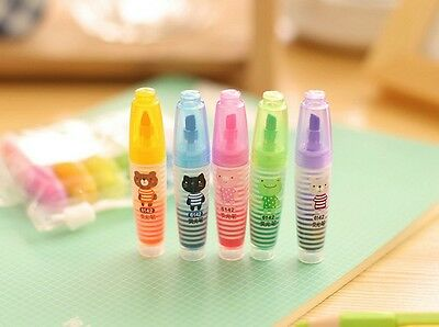 6pcs Highlighter Fluorescent Marker Pen Stationery Mini Chalk Blackboard Stick