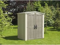 Keter Outdoor Garden Storage Shed, 6 x 3 feet FREE DELIVERY + ASSEMBLY EDINBURGH WEST LOTHIAN
