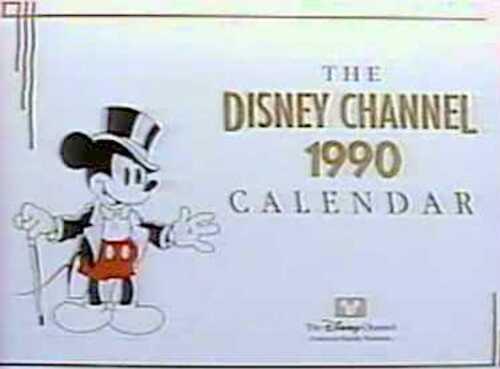 1990 DISNEY CHANNEL CALENDAR original unopened 12-month wall calendar