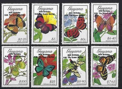 ag Queen Mother Schmetterlinge Nicht Gefaßt Postfrisch, MNH (90 Th Geburtstag)