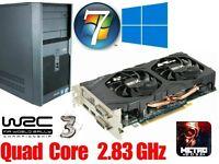 Gaming PC, Intel QUAD CORE 2.83GHz, HD7850 2GB Gddr5 , 6GB Ram, 320GB HD