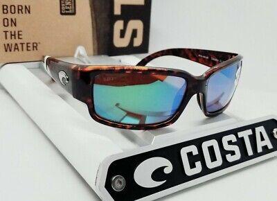 580G - COSTA DEL MAR tortoise/green mirror CABALLITO POLARIZED sunglasses! (Caballito Del Mar)