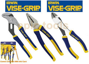 IRWIN-Vise-Grip-10-Waterpump-7-Combination-6-Diagonal-Side-Cutter-Pliers-Set