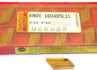 Lot Of 6 New Sandvik Indexable Turning Carbide Inserts Knux 160405l11 235
