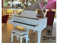 BRAND NEW - STEINHOVEN SG148 - HIGH GLOSS WHITE BABY GRAND PIANO