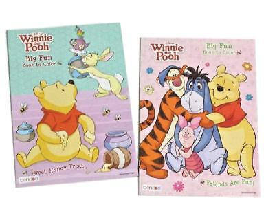 Disney Winnie the Pooh Coloring Book Activity Books Tigger Eeyore Set of 2 NEW