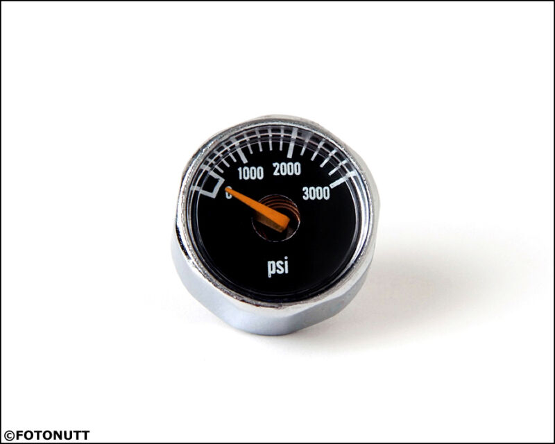 New Micro Gauge 1 inch 3000PSI High Pressure for HPA Nitro Air CO2 tank systems