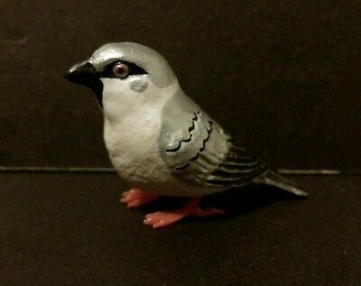 Suzume Collection ( Like Kaiyodo ) Silver Eurasian Tree Sparrow Bird Figure I