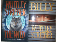 Whitley Strieber hardback books