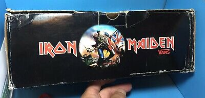 VANS Iron Maiden Trooper mens 12 Empty Box And Wrapping Only No Shoes Included