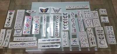 31 Sheets Temporary Tattoo Flower Fairy Butterfly Fake Tattoos Body Art Animals