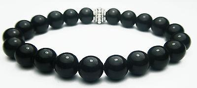 Bracelet - Rainbow Obsidian 8mm Round Crystal Bead W/description- Healing Stone