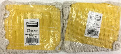 "2/PK Rubbermaid Web Foot Mop Head, Small, White, 5"" Headband, A15106WH00"