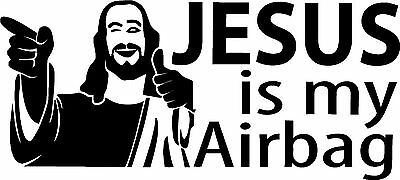 Jesus Is My Airbag - Sticker, Decal, VW, Golf, Camper, Beetle, T5, T4