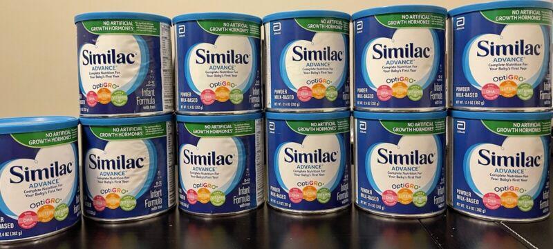 Similac Advance 12.4 oz (11 Cans) Expire 04/2023