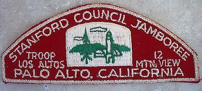 1957 National Jamboree Contingent JSP Strip Stanford Council California RWS Mint