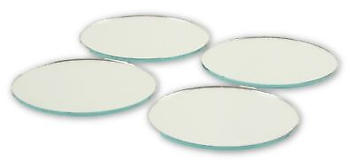 2 inch Glass Craft Small Round Mirrors Bulk 48 Pieces Mosaic Mirror Tiles - Mirror Pieces
