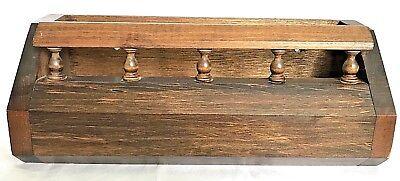 Vintage Wood Desk Top Or Wall Mount Letter Mail File Holder Organizer