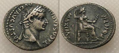 Collectable Roman Silver Tiberius Denarius coin - Tribute Penny / Dates 14/37 AD