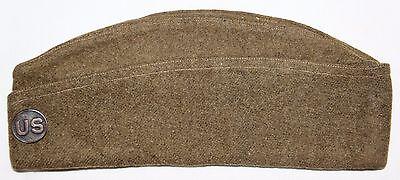 ORIGINAL WWI OVERSEAS GARRISON CAP W/ U.S. DISK