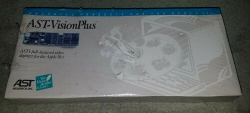 AST Vision Plus Video Digitizer Card Apple IIGS Computer Transfer VCR Video (BW)