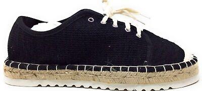 Jellypop Women's Francesco Espadrille Lace Up Fashion Sneaker Black Size 10 M US
