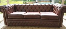 CHESTERFIELD LEATHER SOFA Rochedale South Brisbane South East Preview