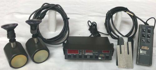 KUSTOM SIGNALS Golden Eagle Police Radar 2 Antennas Remote Forks Cables TESTED