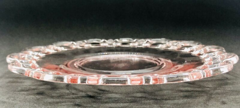 Pink Depression Glass Open Lace Edge Serving Dish