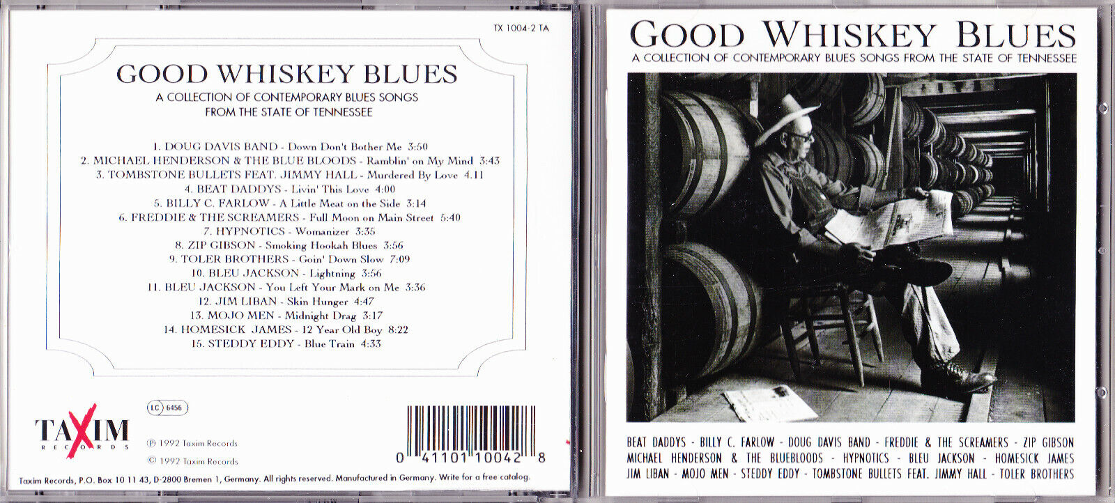 GOOD WHISKEY BLUES-BLUES SONGS FROM TENNESSEE.