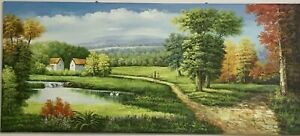 The rural scenery- oil painting with frame