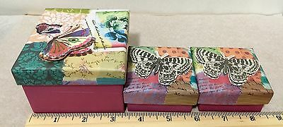 Set Of One Paperchase Lazy Days Mini Gift Box And Two Jewelry Boxes  Brand New