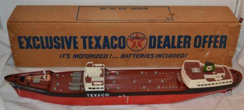 "Vintage Texaco Wen-Mac North Dakota Toy Tanker/ Freight Ship Dealer Promo 27"""