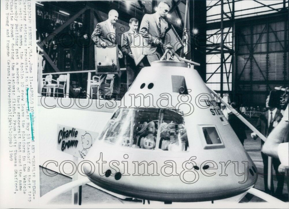 1969 Apollo 10 Astronauts With Mockup of Charlie Brown ...
