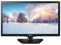 Brand new LED LG 55cm 22 inch TV (22 MT44), One for all Aerial and TV cable bundle