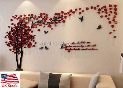 Us Couple Tree 3D Wall Stickers Living Room Bedroom Mural Decals Decor Art Diy