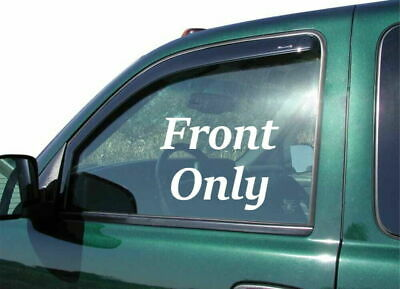 04-08 Ford F-150 Super Cab Stampede Smoke Side Wind Deflector Front Only