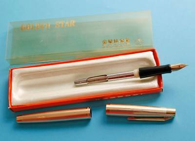 Fountain pen Golden Star 709, MINT, NOS, produced in China 1970-80th, F nib