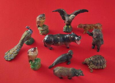 ❤❤❤ Konvolut Tiere aus Masse  10 Stück - ALT (# 8456) ❤❤