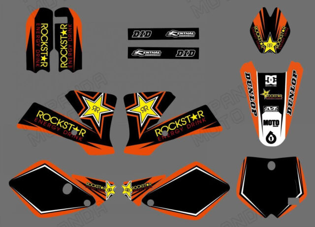 TEAM GRAPHICS & BACKGROUNDS DECALS FOR KTM SX 65 2002 03 04 05 06 07 08