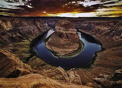 Horseshoe Bend  Arizona   3D Lenticular Post Card Greeting Card