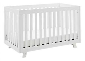 NEW Storkcraft Beckett 3-in-1 Convertible Crib White Fixed Side Crib, Sold Pine and Wood Product Construction, Conver...